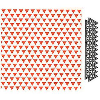 Marianne Design Triangles Embossing Folder and Die