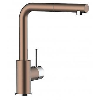Keittiön yhden vipu allas mikseri Uuttimella suihku ja korkea kääntyvä nokka 140 °-pronssi-472