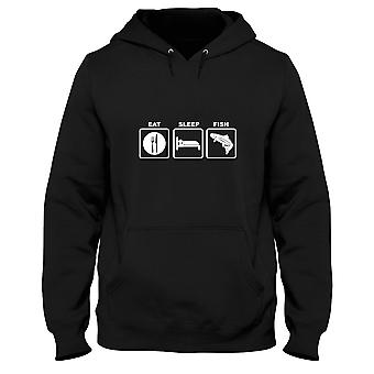 Black man hoodie fun1312 eat sleep fish