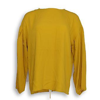 Martha Stewart Mujeres's Top Blusa Tejida Blouson Amarillo A345156