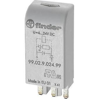 Finder Plug-in module + LED, + varistor 99.02.0.024.98 Compatible with (type): Finder 90.02, Finder 90.03, Finder 92.03, Finder 94.03, Finder 94.04, Finder