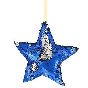 Christmas Shop 16.5cm Reversible Xmas Sequin Star