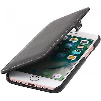 Case For iPhone 8 / IPhone 7 Book Type Black Nappa In True Leather