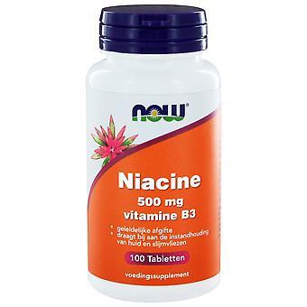 Niacine 500 mg Vitamin B3 geleidelijke afgifte (100 Tabs) - JETZT Lebensmittel