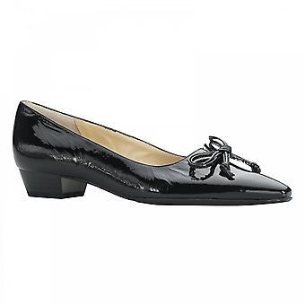 Peter Kaiser Lizzy Black Patent Low Heel Court Shoe