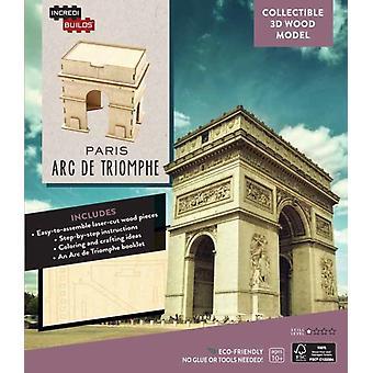 IncrediBuilds Paris Arc de Triomphe 3D Wood Model