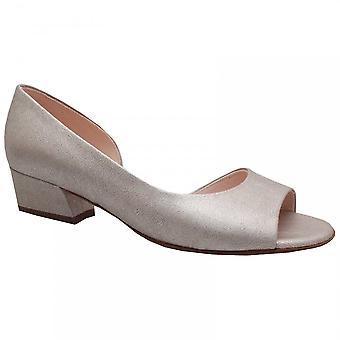 Peter Kaiser Pura Silver Side Out Low Block Heel Shoe
