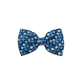 Dobell Mens Blue Multi Spot Bow Tie Pre-Tied