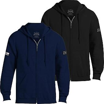 Grunt stijl Basic volledige zip hoodie 2,0