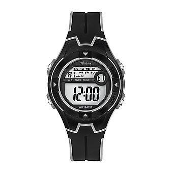 Tekday Watch 654679 - Junior Digital Silicone Black Shades Grey
