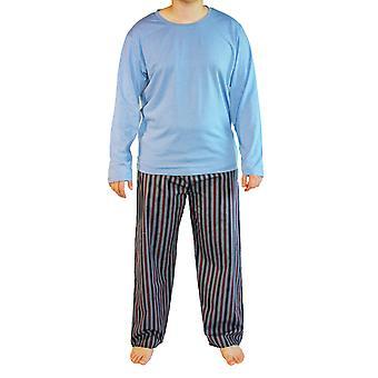 Haigman メンズ プレーン プリント綿長いパジャマ ラウンジウェア