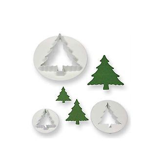 PME árbol de Navidad cortador conjunto de 3
