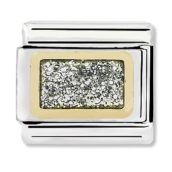 Nomination Classic Link Silver Glitter Square Link Charm 030280/38