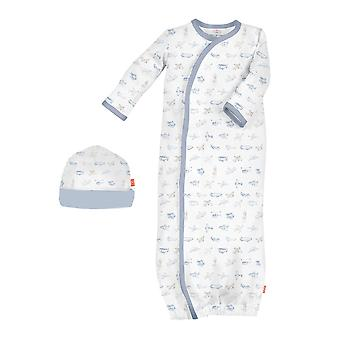 Magnetic Me™ 100% Organic Cotton Baby Gown & Hat Set