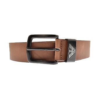 Emporio Armani Buckle Belt Brown Y4S201 YDD6X