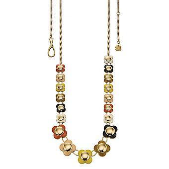 أورلا كيلي ديزي سلسلة متعددة الملونة قلادة زهرة طويلة N4021