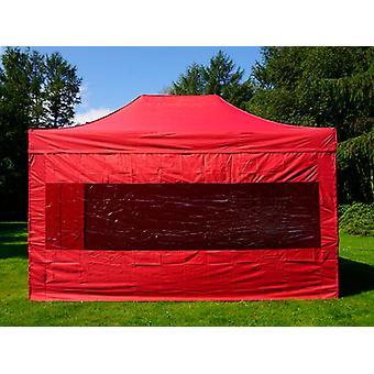 Tente pliante FleXtents PRO 3x4,5m Rouge, avec 4 cotés