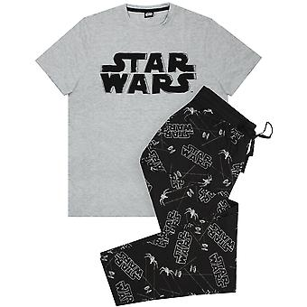Star Wars Pijamas afligido Logo Hombres's Loungepants & Camiseta Sleepwear Set