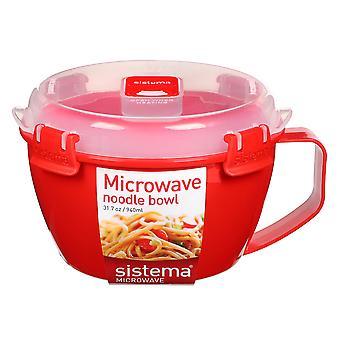 Sistema Red Klip It Microwave Noodle Bowl, 940ml
