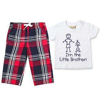 I'm The Little Brother Tartan Trouser Pyjamas