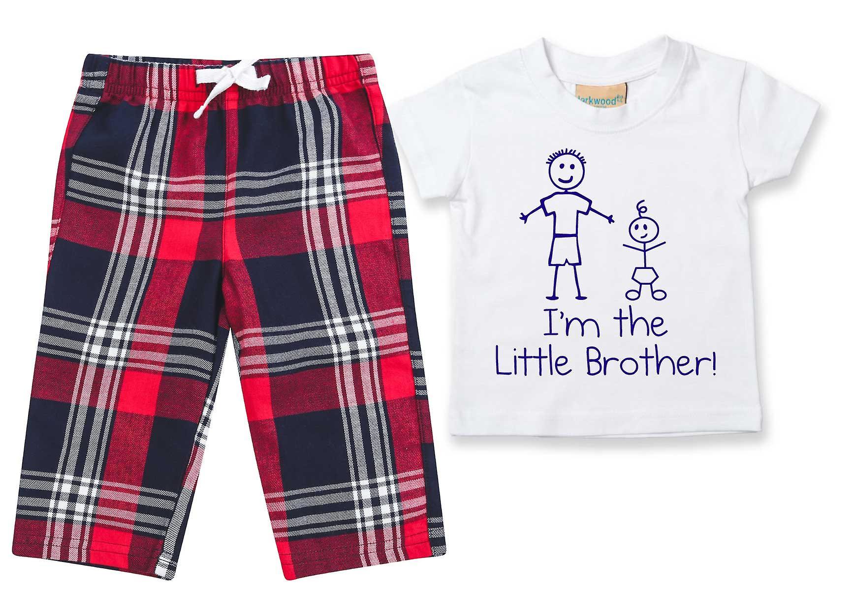 I'm The Little Brother Tartan Trouser Pyjamas