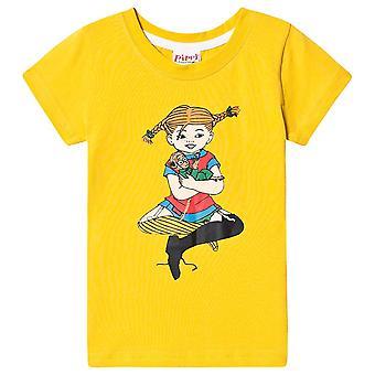 Pippi Longstocking Hugs T-shirt Yellow