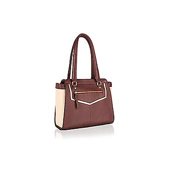 Genuine leather fully-lined zipped handbag with keyring attachment by Woodland Leathers