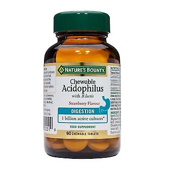 Nature's Bounty Chewable Acidophilus with B.lactis 60 (N5805)