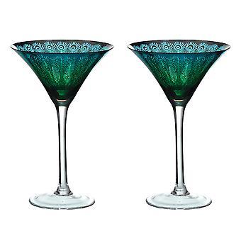 Artland uppsättning 2 Peacock Martini glas