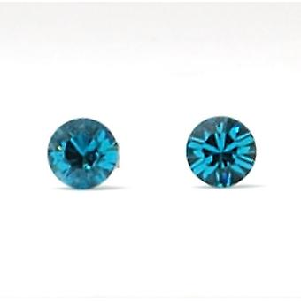 The Olivia Collection Sterling Silver Swarovski Indicolite Stud Earrings