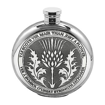 6oz Round Tae A Thistle Flask