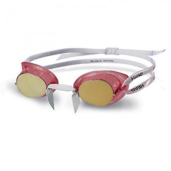 HEAD Swedish TPR Racing Swim Goggles - Mirrored Lens - Red