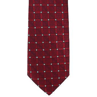מייקלסון של לונדון היהלומים רשת פוליאסטר עניבה-אדום