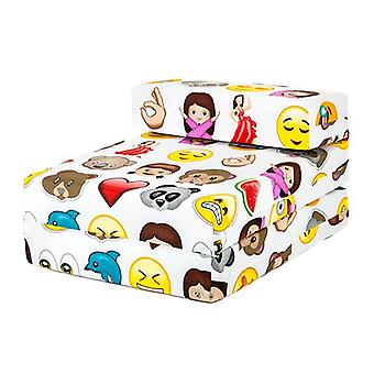 Emoji Emoticons Imprimer enfants-apos;s Single Fold Out Foam Z Bed Guest Mattress Chair Bed Bed
