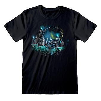 Harry Potter Wireframe Hogwarts Kvinnors Pojkvän Passar T-Shirt