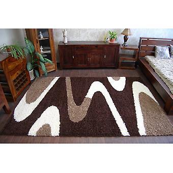 שטיח שאגי ZENA 3310 חום כהה/שנהב