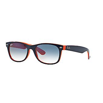 Ray-Ban New Wayfarer RB2132 789/3F Top Blue-Orange /Crystal Gradient Light Blue Sunglasses