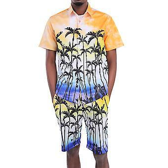 Alle Themen Men's 3D gedruckt 2-teilig Shirt & Shorts