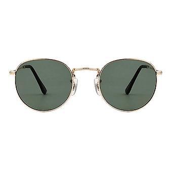 A.Kjaerbede Hello Gold Round Sunglasses
