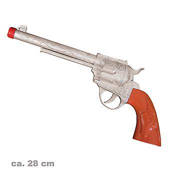 Western revolveri kokoa 28cm lelu ase cowboy