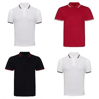 AWDis Mens Stretch Tipped Polo Shirt