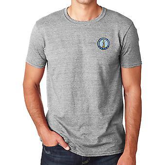 Garde nationale armée brodé Logo - coton Ringspun T Shirt