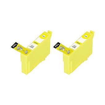 RudyTwos 2 x repuesto para unidad de tinta Epson 35XL(Padlock) amarillo Compatible con mano de obra profesional WF-4720DWF, 4725DWF de WF, WF-4730DTWF, WF-4730DWF, WF-4740DTWF, WF-4740DWF