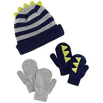 Simple Joys por Carter's Boys' Hat and Mitten Set, Stripe, 12-24 Meses