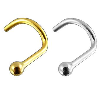 14K Gold Top Ball Nose Screw