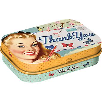 Thank You Nostalgic Sugar Free Mint Tin - Cracker Filler Gift
