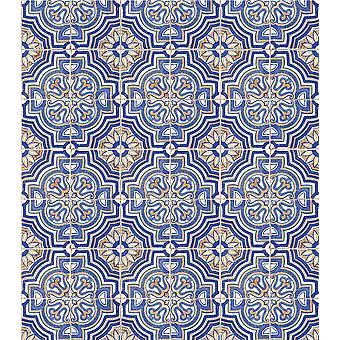 """Craft Consortium Decoupage Papers 13.75""""X15.75"""" 3/Pkg-Portuguese Tile"""