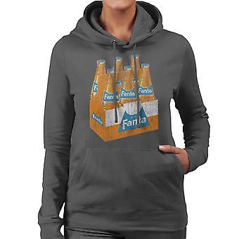 Fanta retro 1960 flaska låda Women ' s Hooded Sweatshirt