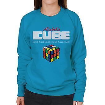 Rubik's All Night All Day Game Women's Sweatshirt