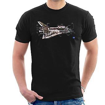 NASA Space Shuttle schematisch Diagram mannen T-Shirt